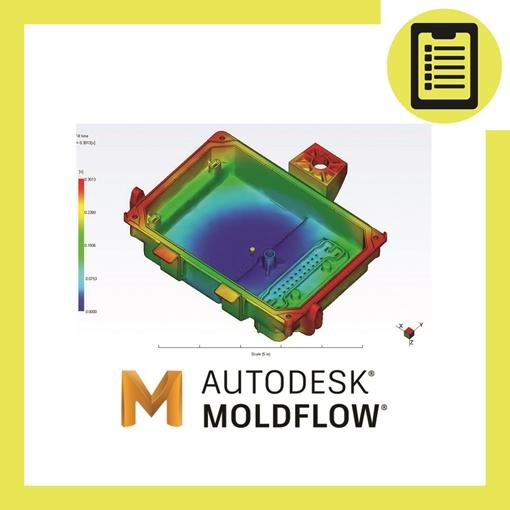 تصویر از تحلیل فرایند تزریق پلاستیک Moldflow