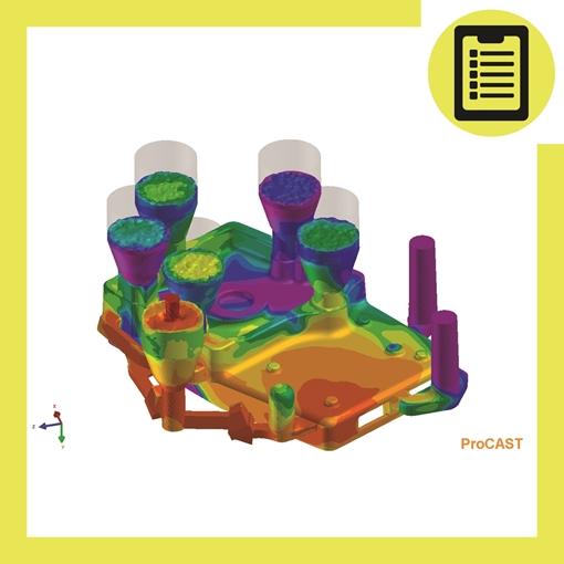 تصویر از شبیه سازی فرایند ریخته گری با نرم افزار Procast